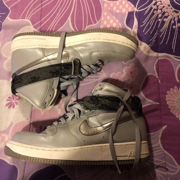 NIKE AIR FORCE ONE Gray, White And Black High Tops